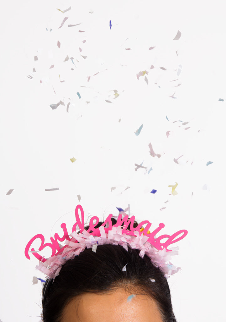 PARTY UP TOP HEADBAND: SINGLE 'BRIDESMAID' - Bracket