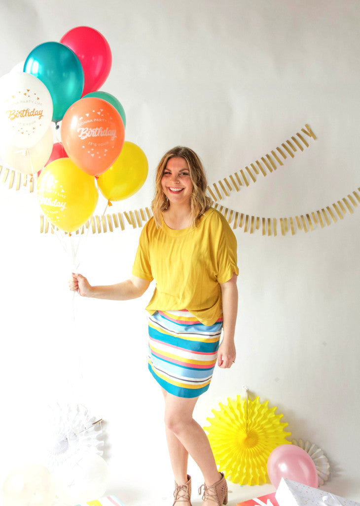 PARTY BALLOONS - Party Like It's Your Birthday - Marigold - Bracket