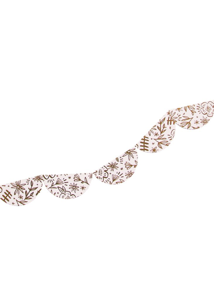 GOLD FOIL FLORAL GARLAND - Bracket