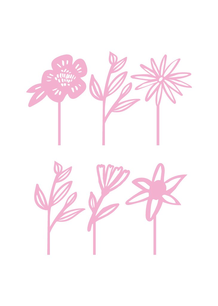 FLORAL TREAT TOPPERS - Bracket
