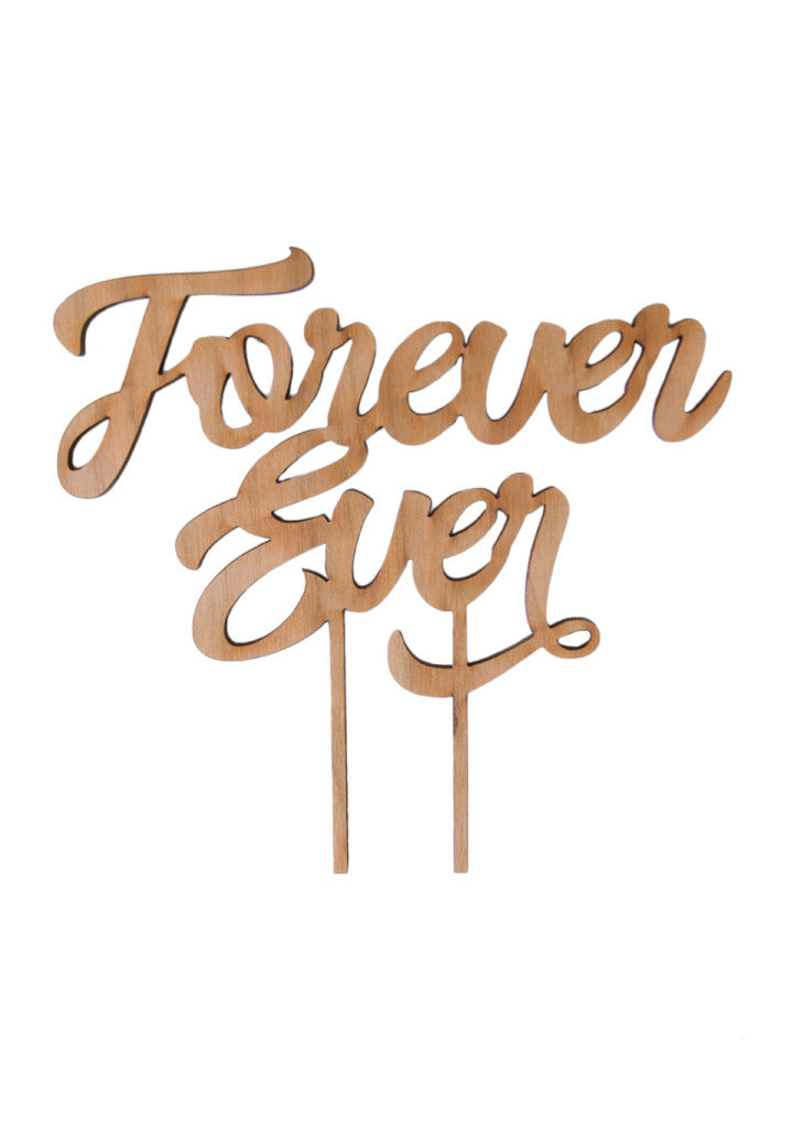 FOREVER EVER CAKE TOPPER - Bracket