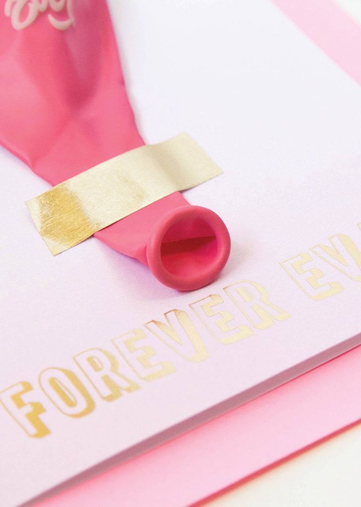 FOREVER EVER BALLOON CARD - Bracket