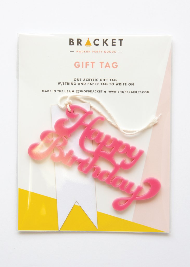 GIFT TAG - HAPPY BIRTHDAY - Bracket