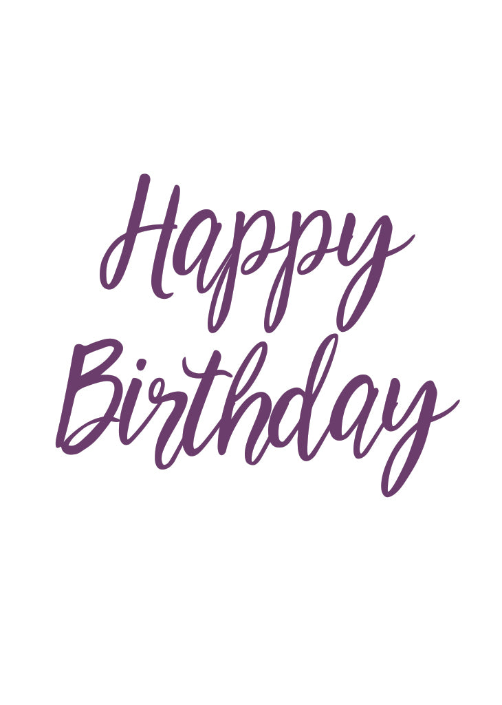 PARTY BANNER - HAPPY BIRTHDAY- SCRIPT - Bracket
