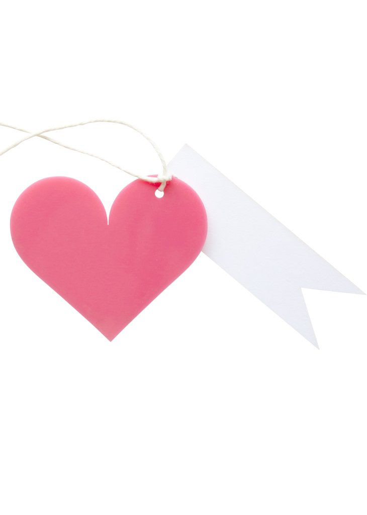 GIFT TAG - HEART - Bracket