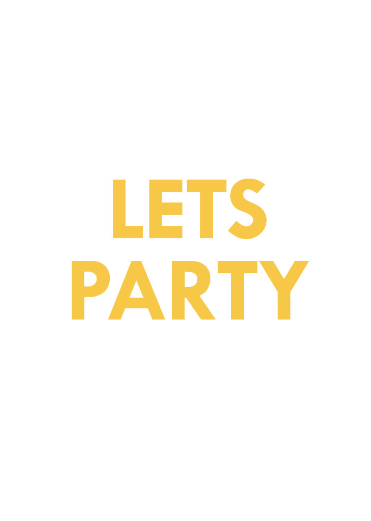 PARTY BANNER - LETS PARTY - Bracket