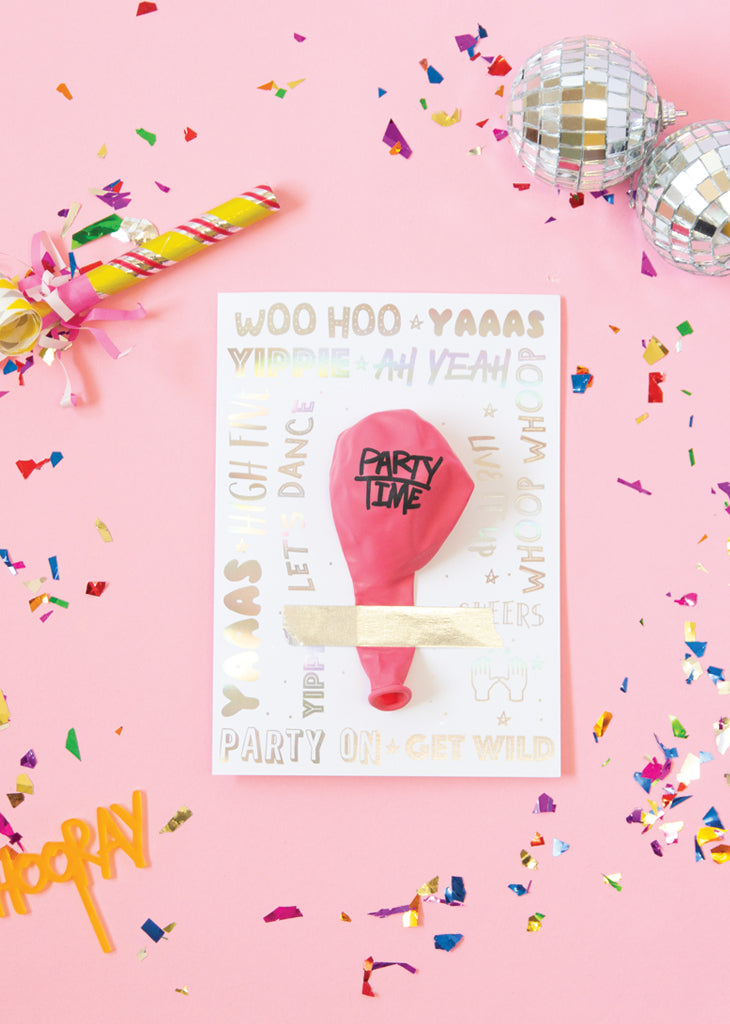 PARTY TIME BALLOON CARD - Bracket