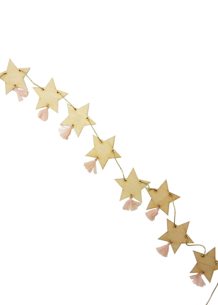 GARLAND - WOOD STAR GARLAND