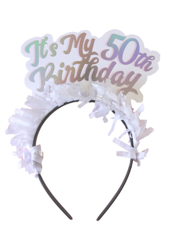 PARTY UP TOP SINGLE HEADBAND: 'LIFE OF THE PARTY'