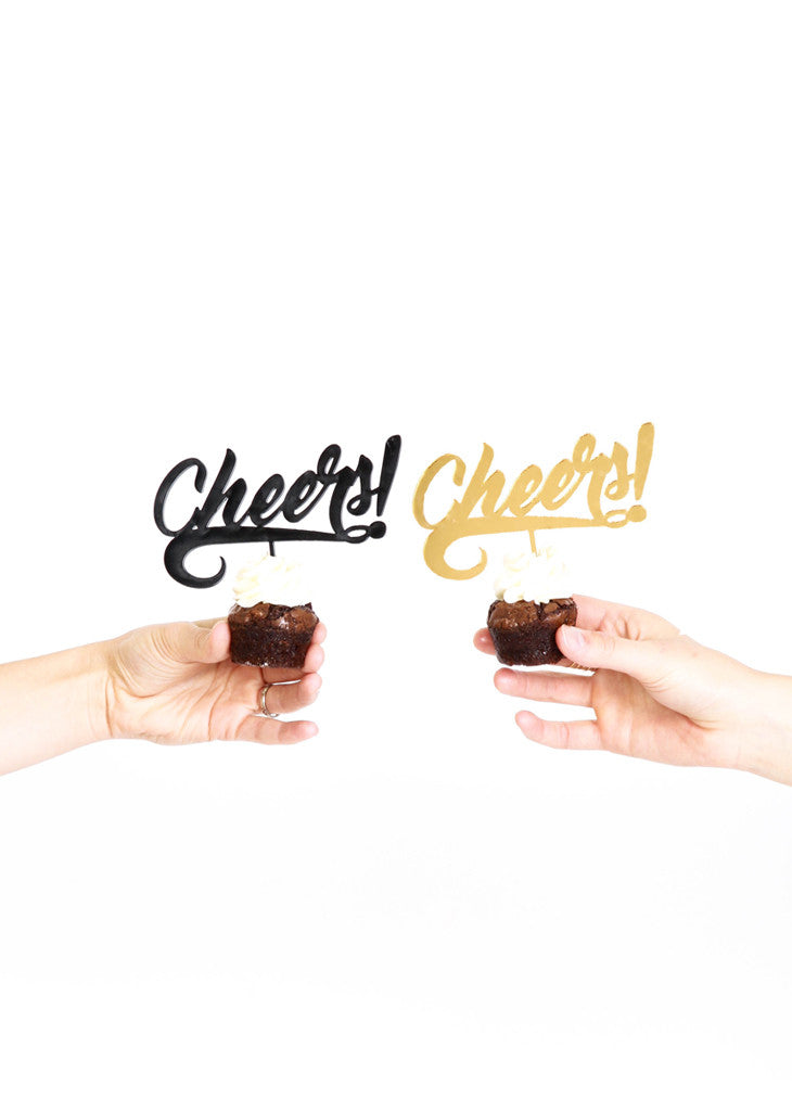 CHEERS! - CAKE TOPPER