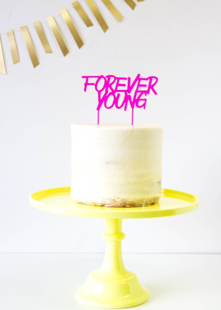 FOREVER YOUNG CAKE TOPPER - Bracket