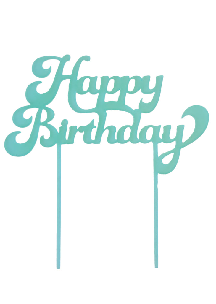 HAPPY BIRTHDAY CAKE TOPPER - Bracket