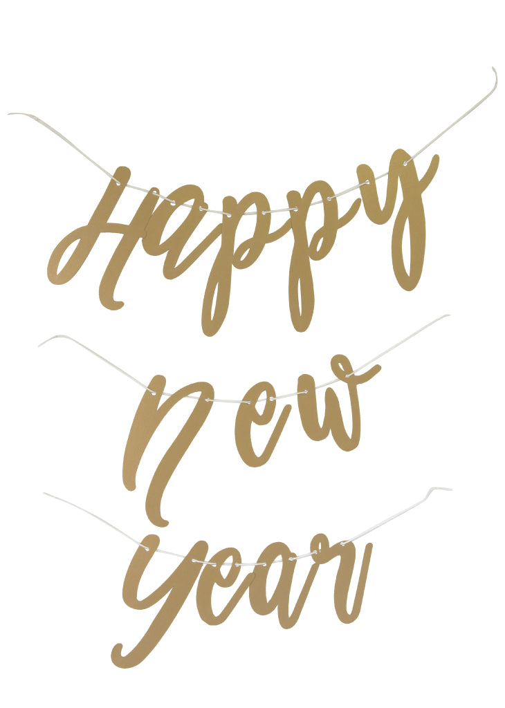 PARTY BANNER - HAPPY NEW YEAR-script - Bracket