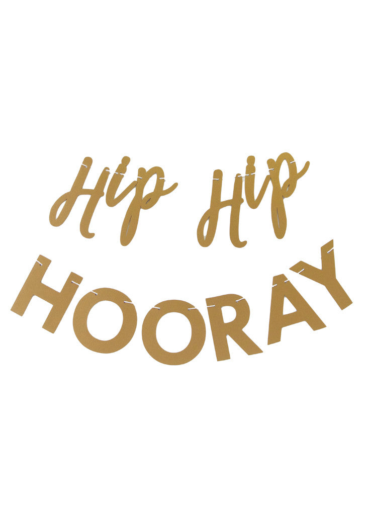 PARTY BANNER - HIP HIP HOORAY