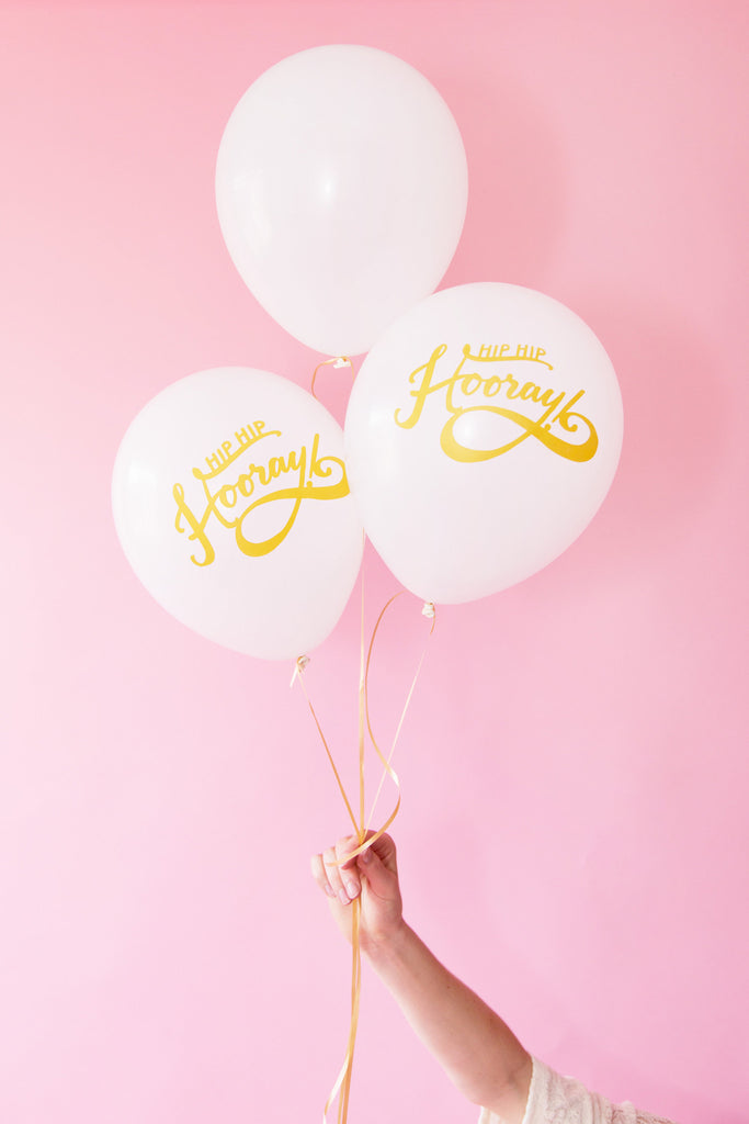 PARTY BALLOONS - Hip Hip Hooray