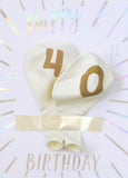 MILESTONE BIRTHDAY BALLOON CARD - 40TH BIRTHDAY - Bracket
