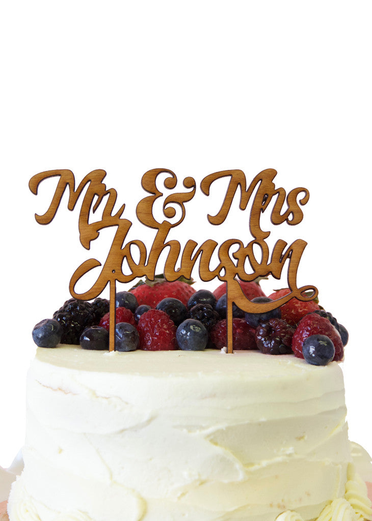 CUSTOM MR & MRS TOPPER - Bracket