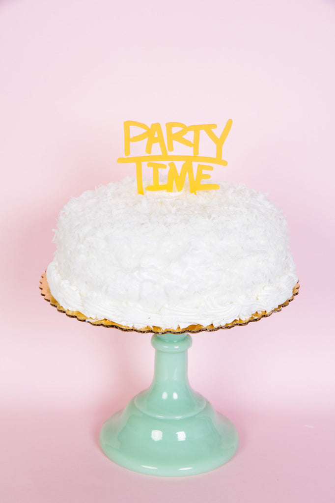 PARTY TIME - CAKE TOPPER - Bracket