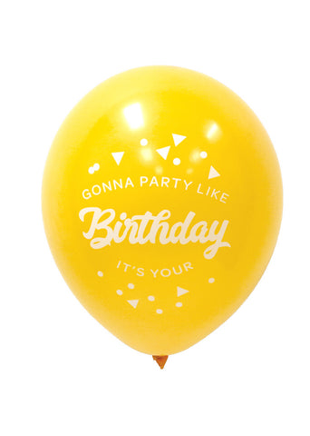 PARTY BALLOONS - Party Like It's Your Birthday - White