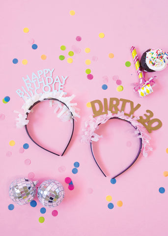 PARTY UP TOP MILESTONE HEADBAND: SINGLE 'IT'S MY 21ST BIRTHDAY'