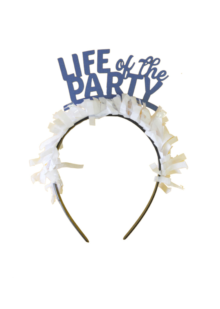 PARTY UP TOP SINGLE HEADBAND: 'LIFE OF THE PARTY' - Bracket
