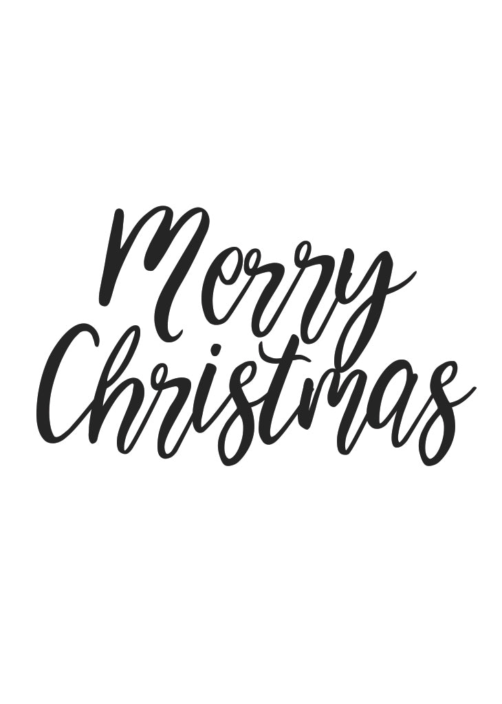 Merry Christmas Images Black And White.Party Banner Merry Christmas Script