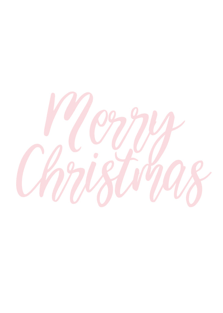 PARTY BANNER - MERRY CHRISTMAS - script - Bracket