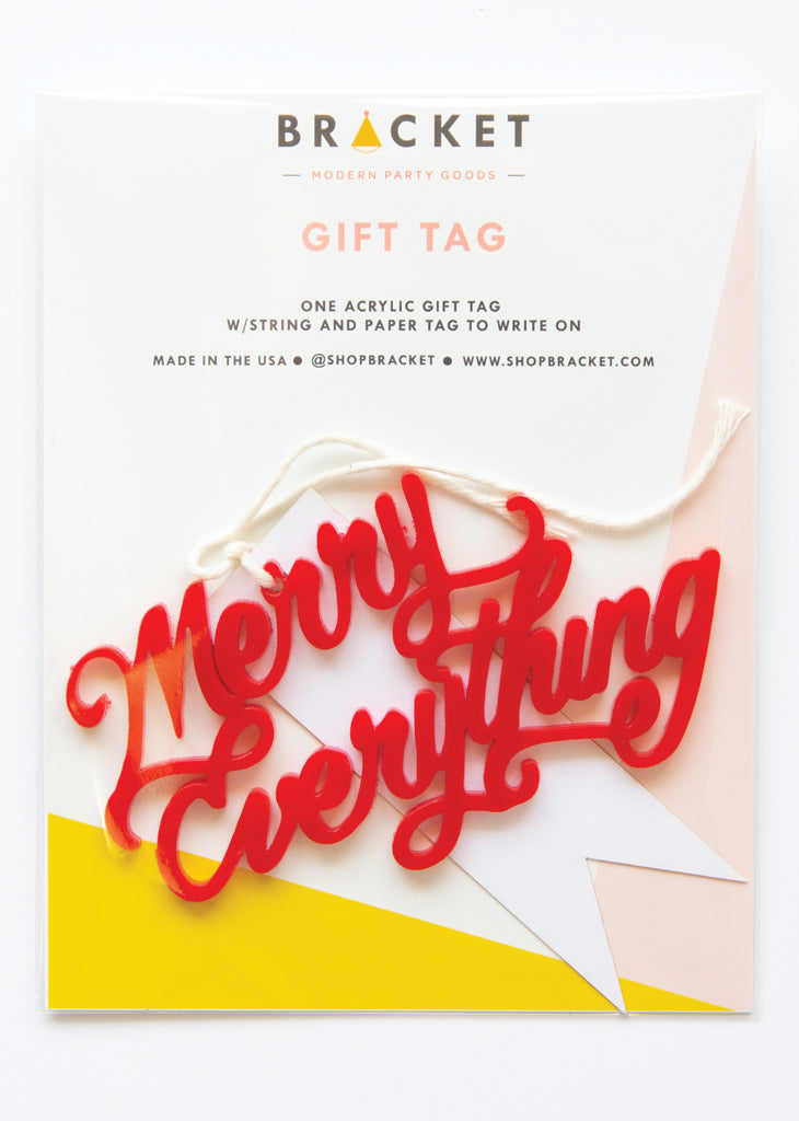 GIFT TAG - MERRY EVERYTHING - Bracket