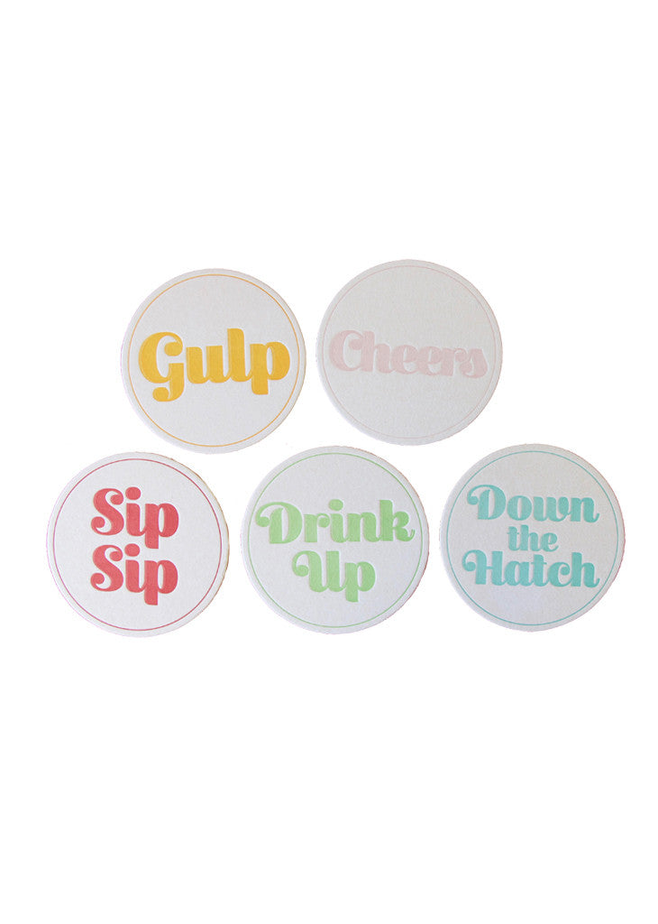 DRINK UP - COASTER SET - Bracket