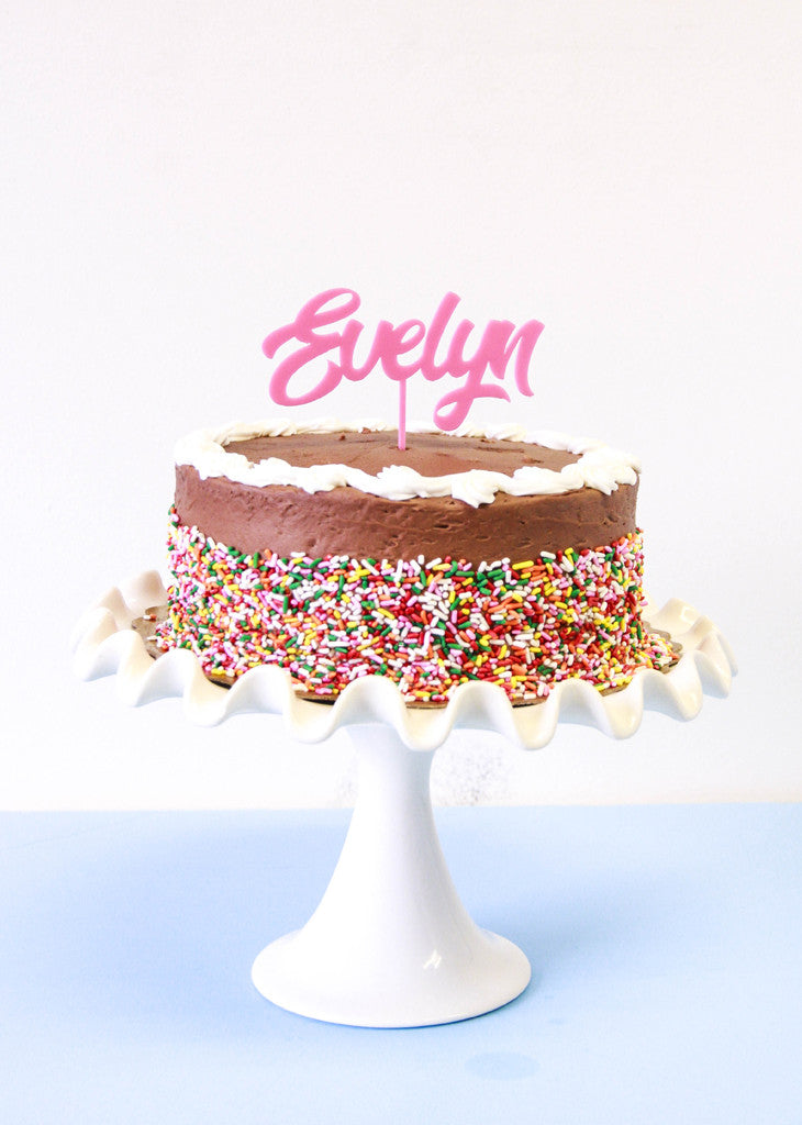 CUSTOM NAME CAKE TOPPER - Bracket