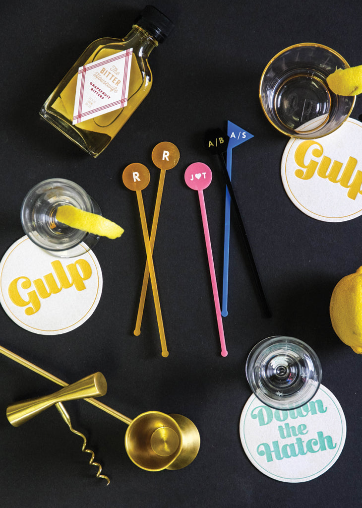 CUSTOM INITIAL DRINK STIRRERS - Bracket
