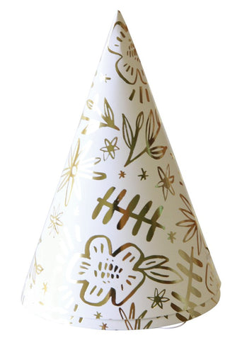 PARTY HATS - PINK FLORAL PACK