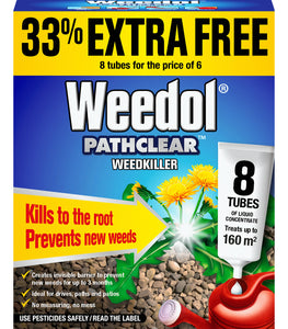 Weedol Pathclear 6 Tubes + 2 Free