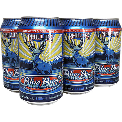 PHILLIPS - BLUE BUCK ALE CAN | 6 x 355 ml