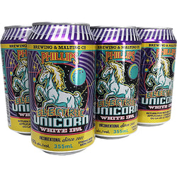 PHILLIPS BREWING - ELECTRIC UNICORN WHITE IPA CAN | 6 x 355 ml