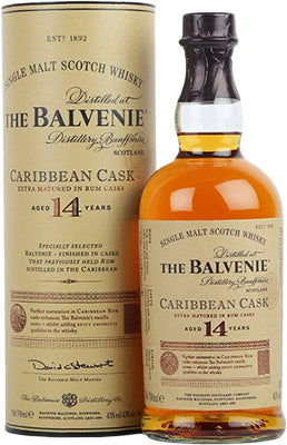 BALVENIE - 14 YEAR OLD CARIBBEAN RUM CASK | 750 ml