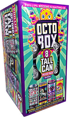 PHILLIPS BREWING - OCTOBOX SUMMER MIXED PACK TALL CANS | 8 x 473 ml