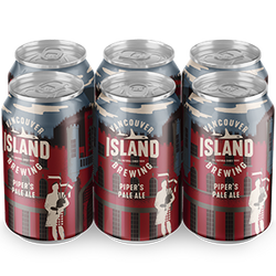 VANCOUVER ISLAND - PIPER'S PALE ALE CAN | 6 x 355 ml