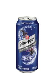 SCHWEPPES VODKA BLUEBERRY | 4 x 473 ml