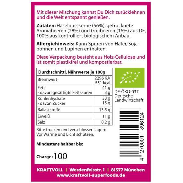 Haselnuss-Beeren-Mix, 80g