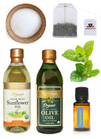 DIY Skin care, Olive oil, Sunflower Oil, Tea