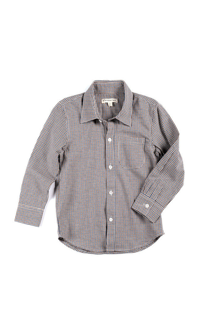 Blue Brown Check Shirt