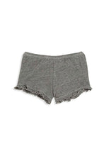 Grey Ruffle Shorts