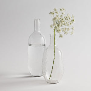 Pebbled Glass Bottles