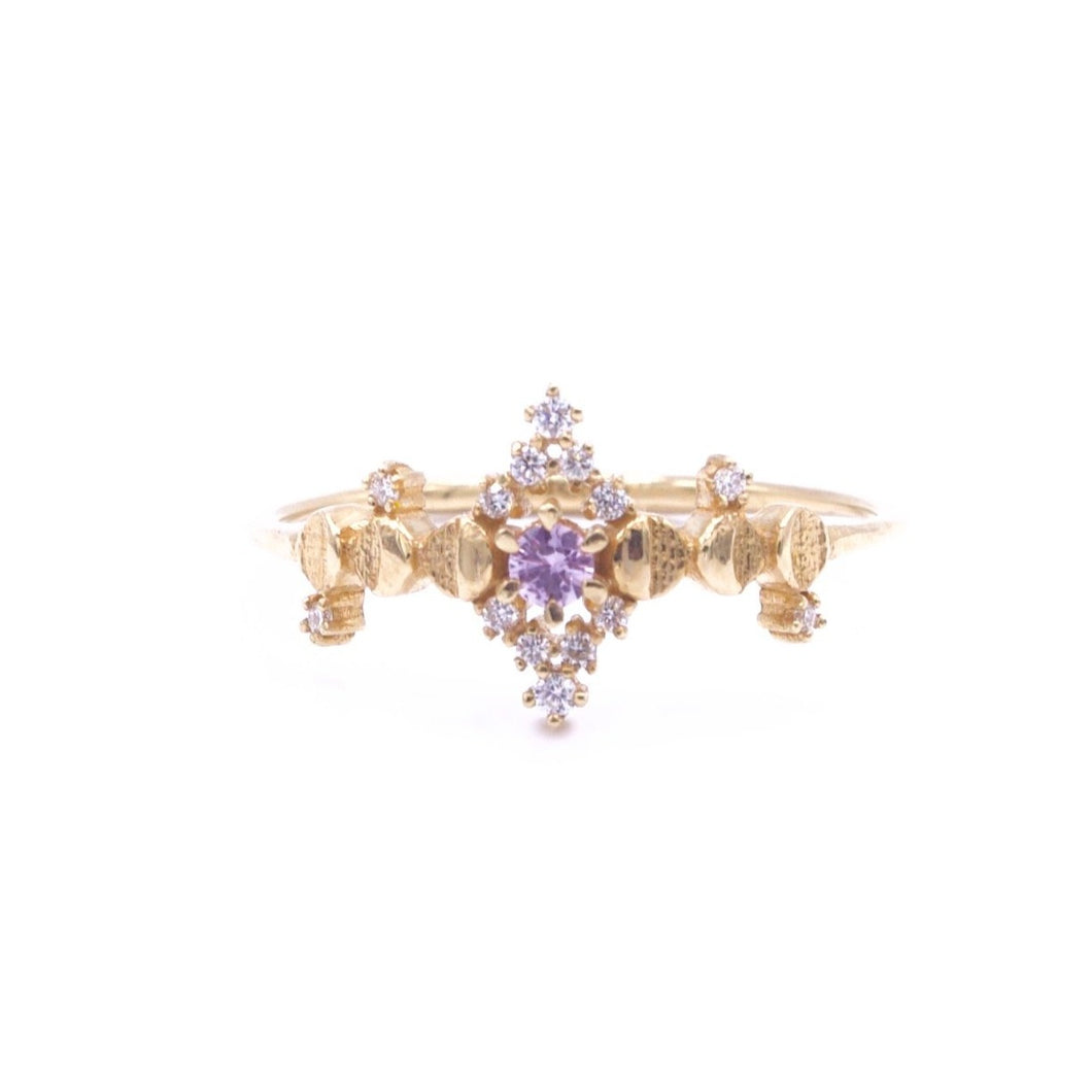 Cosmic Witch Pink Sapphire Ring