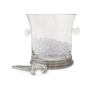Match Crystal Ice Bucket With Tongs Set