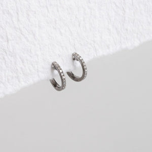 Petite Huggie Earrings with Diamonds