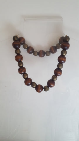 Wood and Metalic Beads