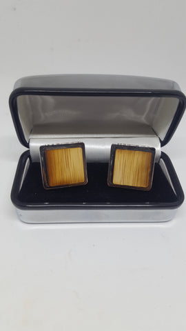 Bamboo Cufflinks - Square