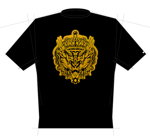 Halie Selassie - Black with gold print